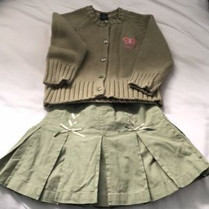 NWT Baby Gap skirt and sweater set
